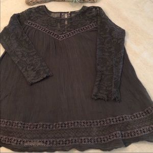 Beautiful brown Free People tunic, swingy dress.